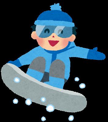 スノーボードのイラスト「男の子」