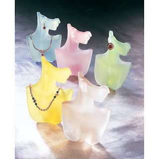 Frosted Color Bust jewelry Display