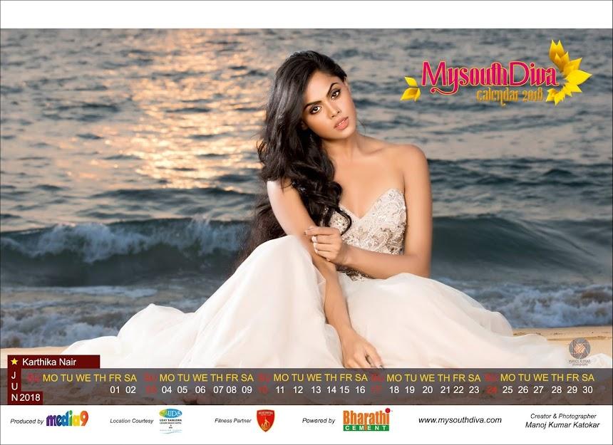 My South Diva Calendar 2018 - Karthika Nair