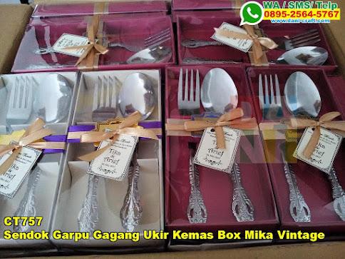 Toko Sendok Garpu Gagang Ukir Kemas Box Mika Vintage