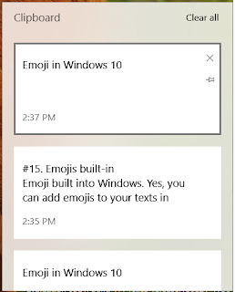 Multiple Items in Windows clipboard
