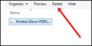 Cara Uninstal Font Di PC