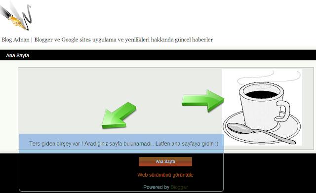 Blog 404 hatası