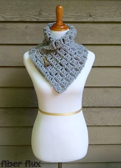 Fiber Flux Free Crochet Patternrgaret Button Cowl