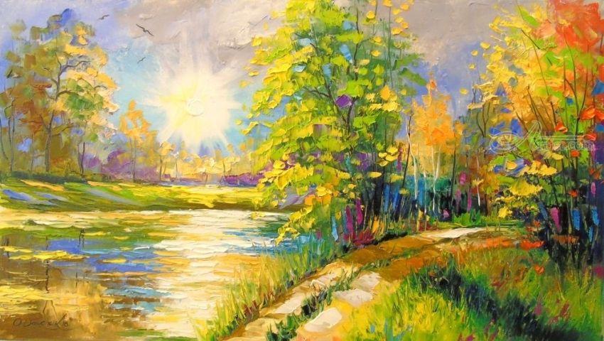 Lindas pinturas pintadas por Olha Darchuk