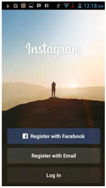 registrasi atau membuat akun Instagram dengan e-mail