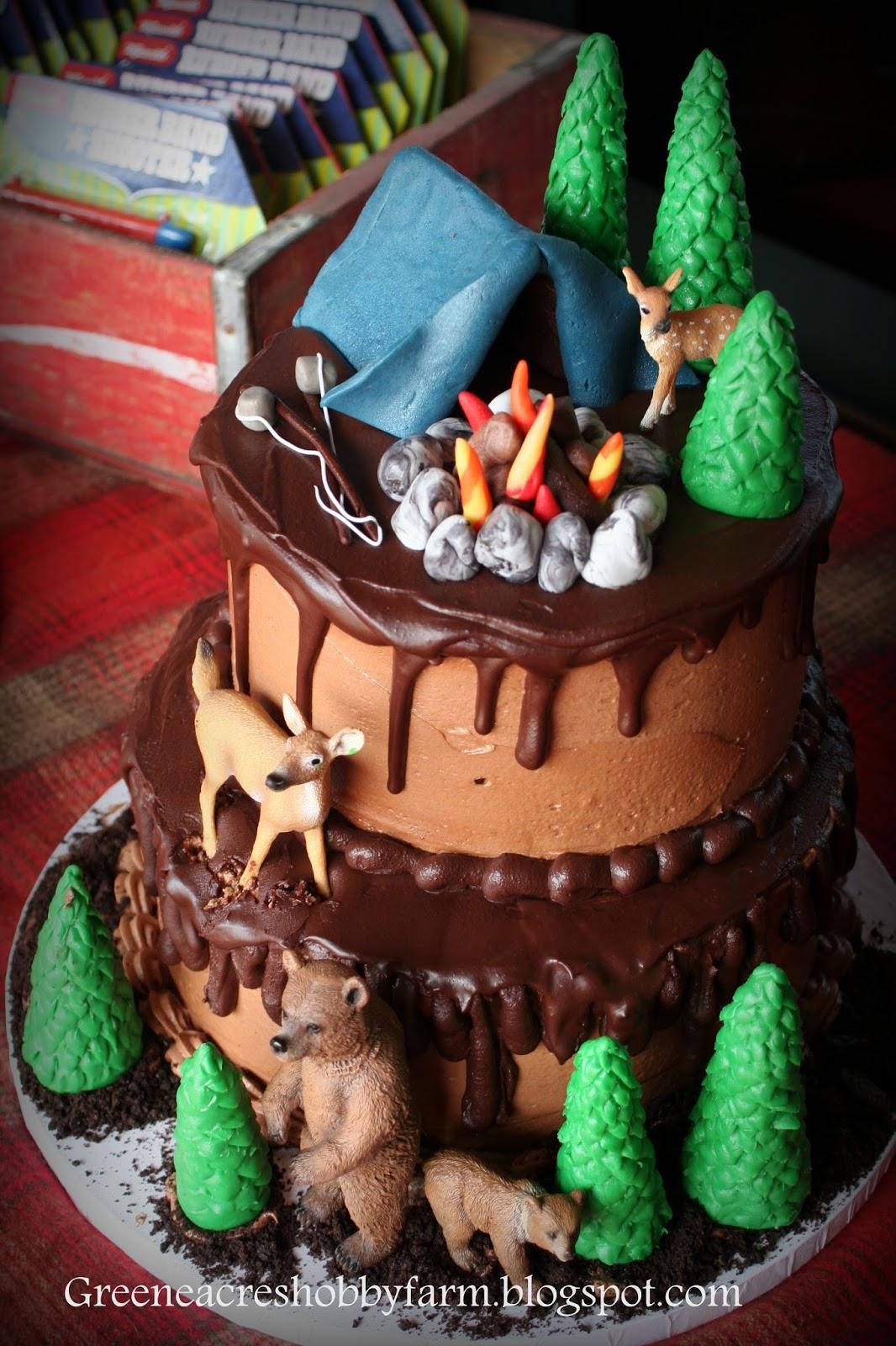 Greene Acres Hobby Farm Camping Birthday Party