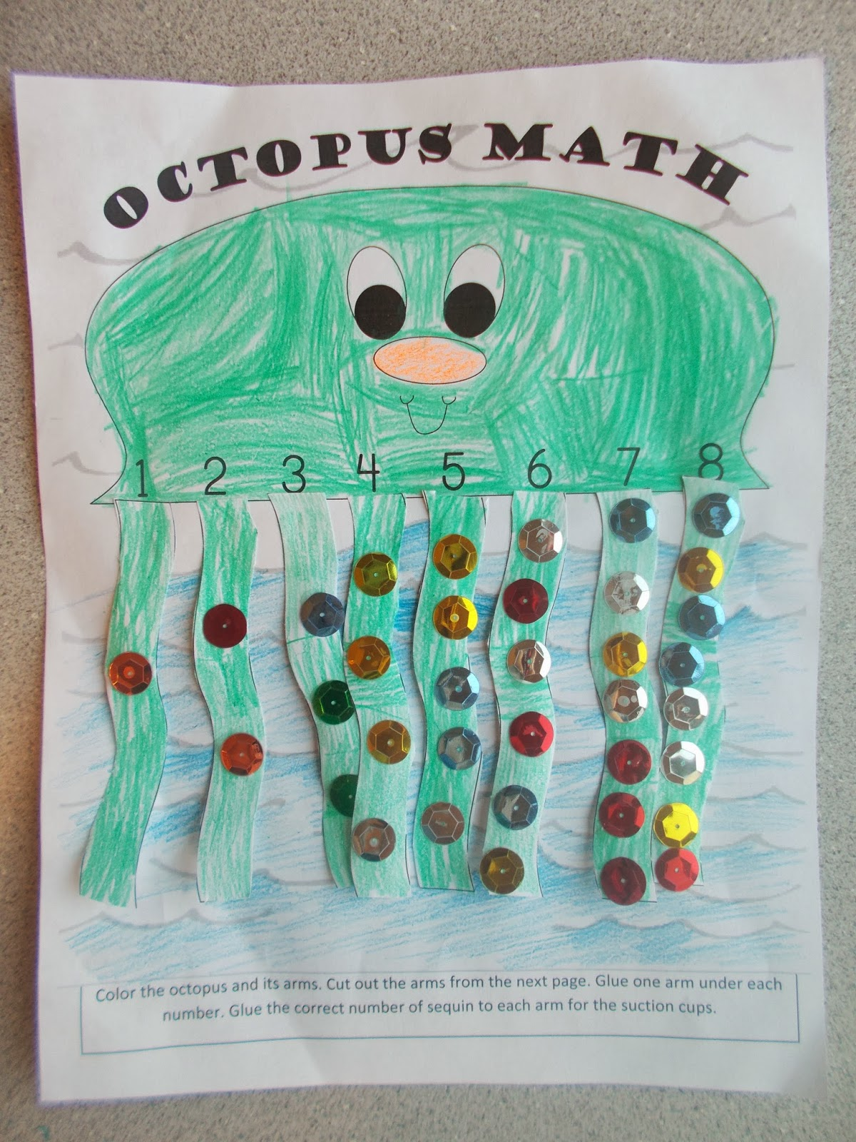 Chipman S Corner Preschool O Is For Octopus Math