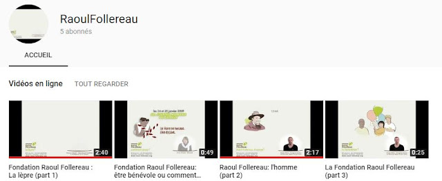 VIDEOS DE LA FONDATION RAOUL FOLLEREAU