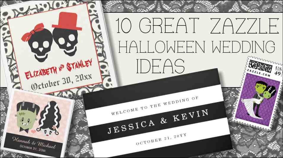 great wedding ideas and spooky wedding designs you can customize at Zazzle