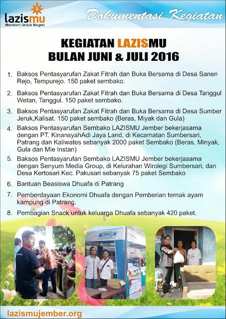 FOTO Laporan Lazismu Bulan Juni & Juli 2016 Hal-1