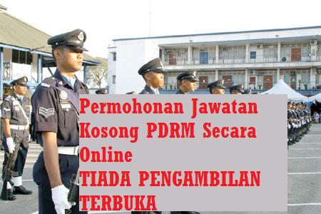 Permohonan PDRM Secara Online