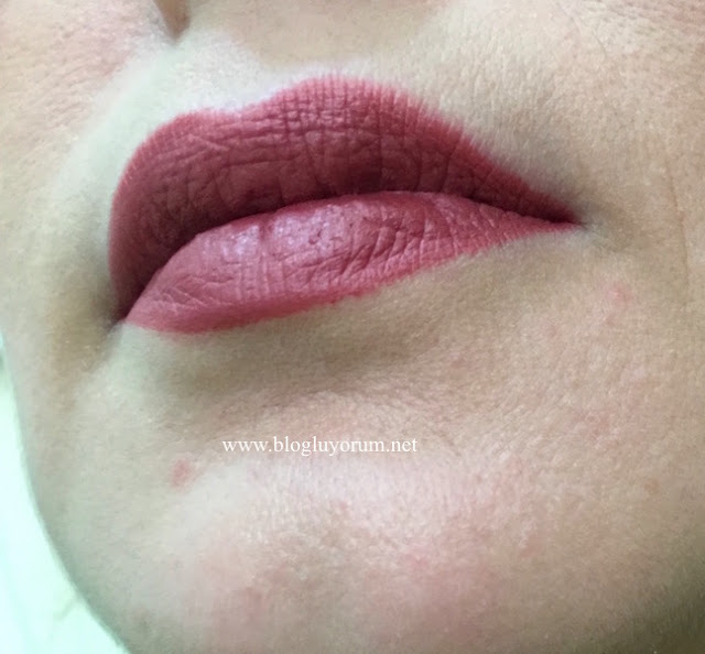 cecile kiss me matte mineral ruj 310 milk chocolate swatch