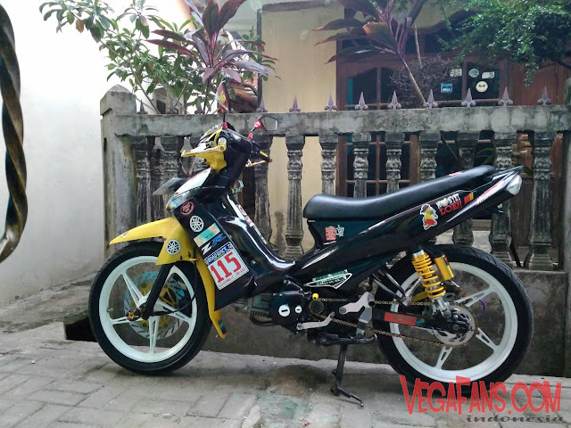 Vega ZR Kuning Hitam Modif Road Race Simple 1