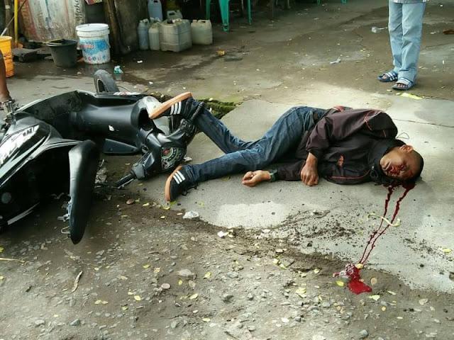 Kecelakaan Tunggal Di Jalan Cendrawasih