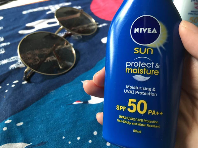 nivea sun protect and moisture spf 50 PA++ review