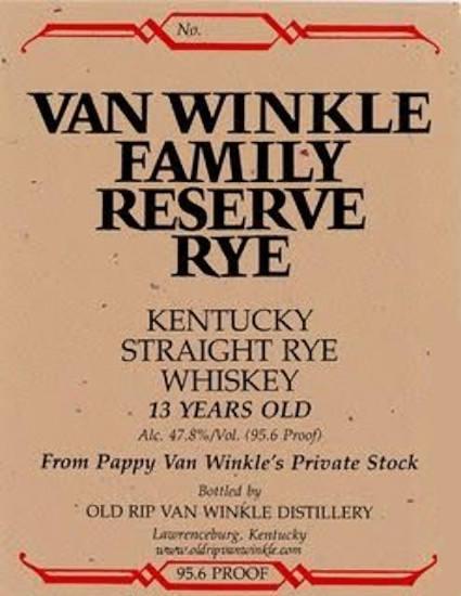 Pappy Van Winkle Family Reserve Rye 13-Year