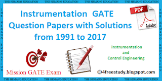 Gate Previous Year Question Papers With Solutions For Instrumentation and Control Engineering PDF Free Download since year 1991 to 2017 link