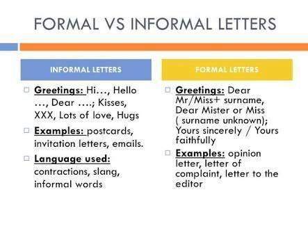 formal language vs informal language essay