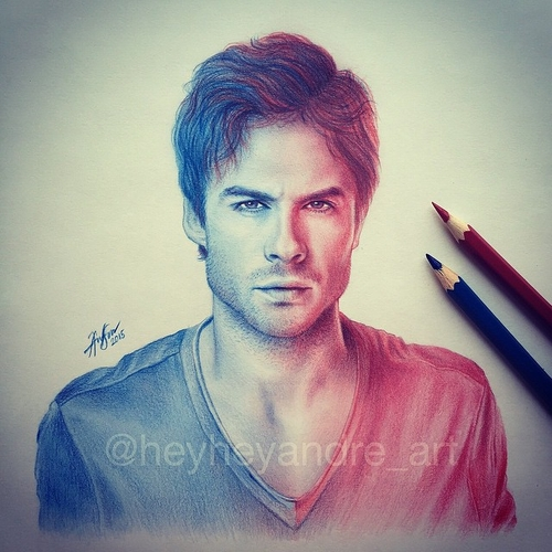 10-Ian-Somerhalder-André-Manguba-Celebrities-Drawn-and-Colored-in-with-Pencils-www-designstack-co