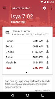 Aplikasi Alarm Adzan Sholat dan Kiblat Android Offline AkhirMali.com -