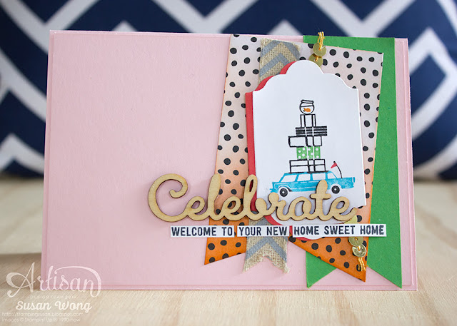 Happy Notes Home Sweet Home Card ~ Susan Wong