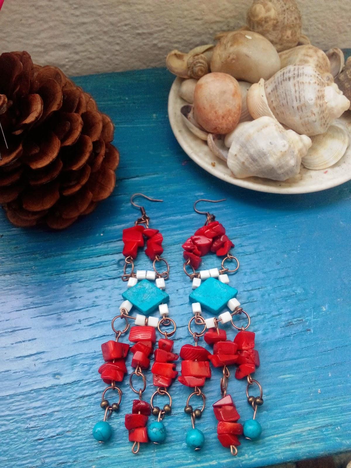 cercei mare circul magic handmade accesorii rosu albastru alb (1)