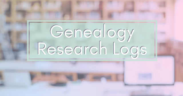 find the right research log for your genealogy