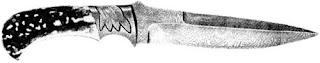 Коллекционный нож работы Джима Энса (США). Лезвие из дамасской стали