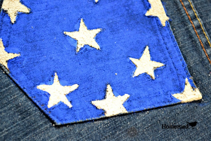 Make Your Own Red, White and Blue Jean Shorts