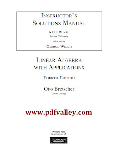 Instructor's Solution Manual Linear Algebra with Applications 4th Edition