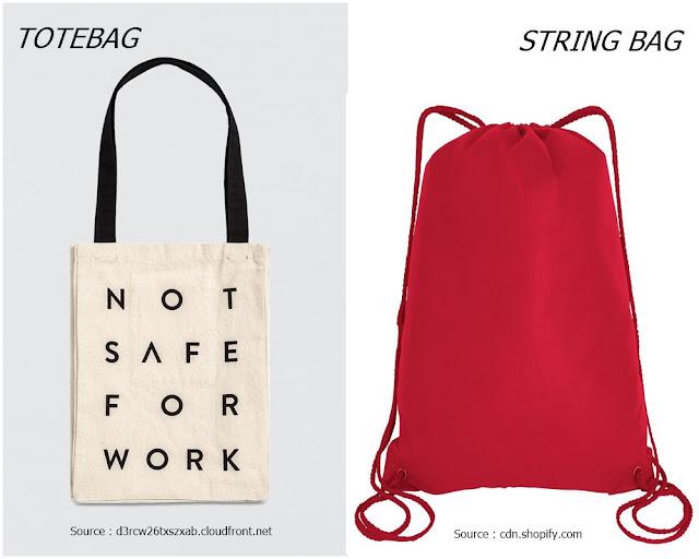 Perbedaan Totebag dan String Bag