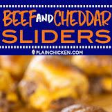 Beef & Cheddar Sliders - Football Friday