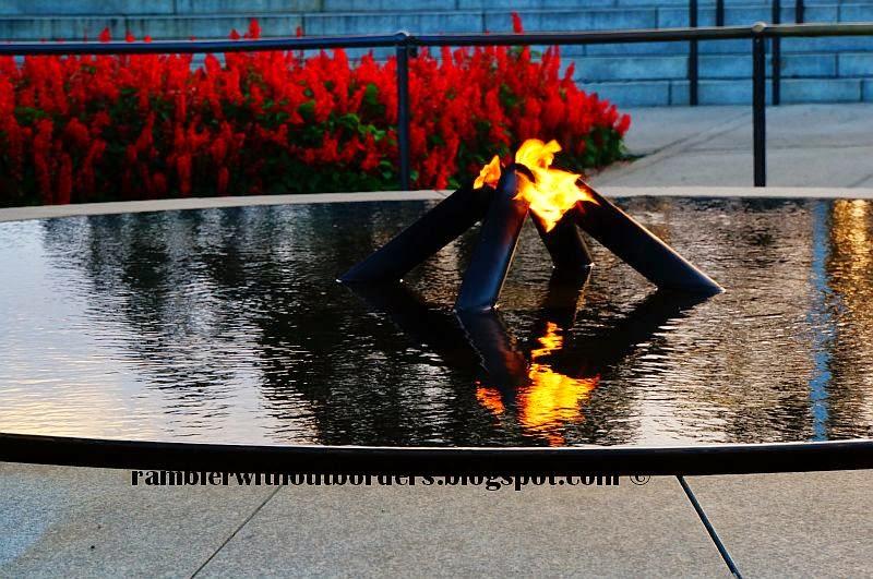 Flame of Remembrance of State War Memorial, Kings Park, Perth, WA, Australia