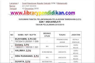 Lampiran I Susunan Panitia LES, http://www.librarypendidikan.com/
