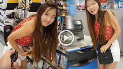 Wanita ini Pakai Celana Vibrator, Aksinya di Supermarket Bikin Geli