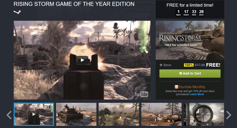 Rising Storm GOTY gratis para Steam