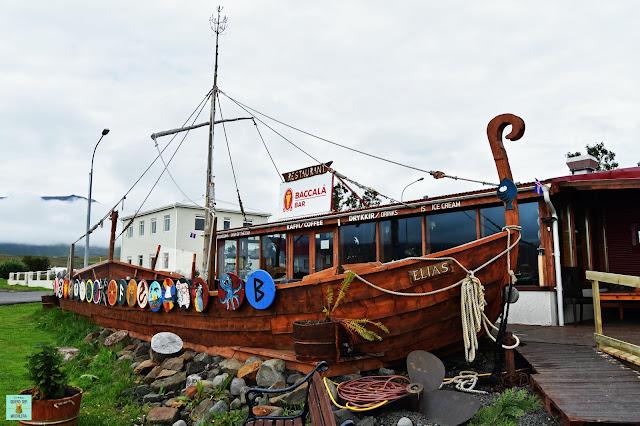 Baccalá Bar en Hauganes, Islandia