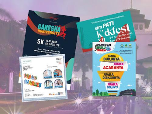 Jadwal Event Bandung November 2018