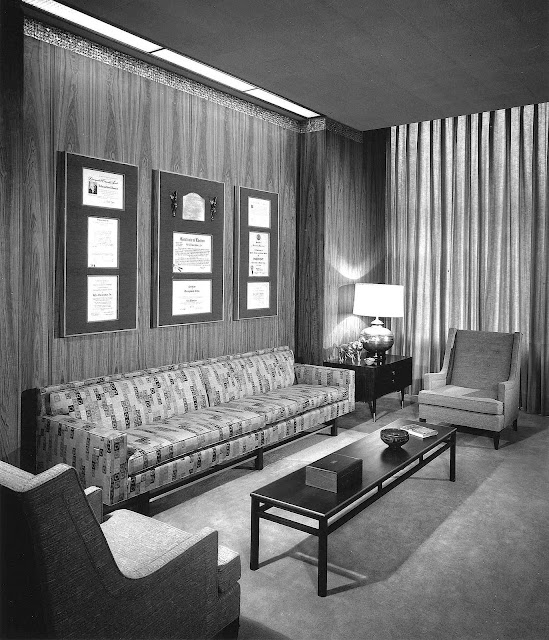 a 1958 boss's office photograph
