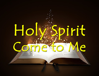 Song title sitting atop scripture bathed in glorious light - invoking the spirit by reading God's word.  1  Holy Spirit, come to me; open my eyes to you.  Holy Spirit, come to me; open my eyes to you.  <i>Chorus:</i>  That I may know Jesus, and I seek his face.  That I may hear his voice when he calls out my name. That I may know Jesus, and I seek his face.  That I may hear his voice when he calls out my name.  2  Holy Spirit, come to me; open my ears to you. 3  Holy Spirit, breath in me, open my life to You.  4  O my Jesus, live in me, I give my life to you.