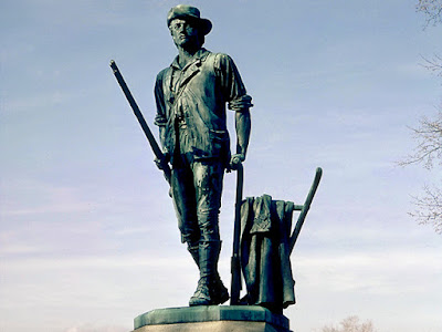Concord Minuteman Statue by Daniel Chester French who selected Tiffany Fellow Francis Quirk