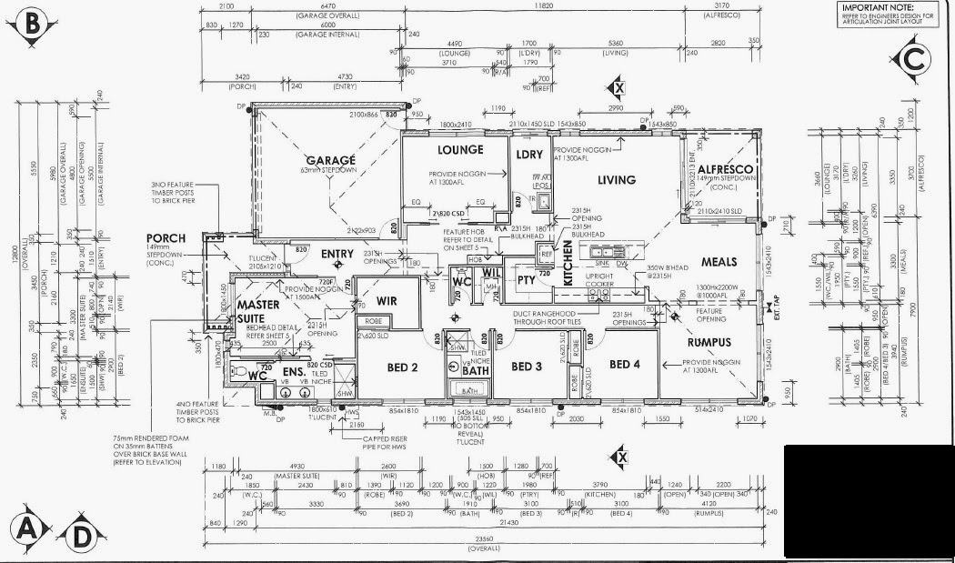 Our First House: 4th Contract Variation, Final House Plan