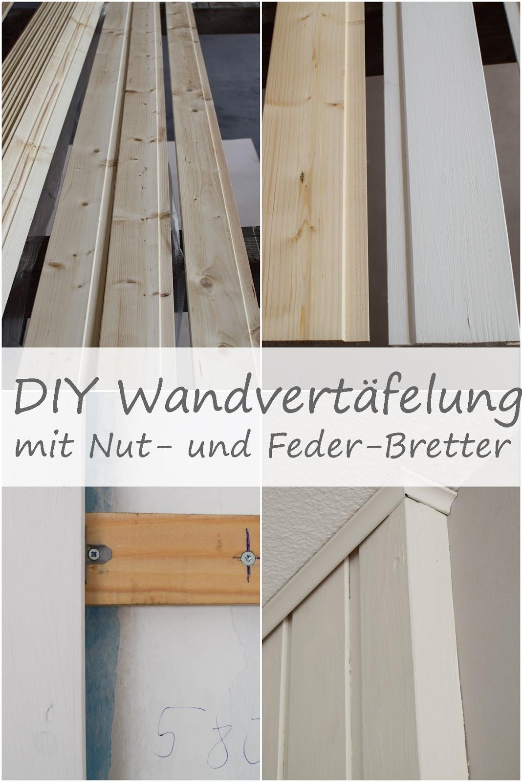 Wandverkleidung DIY aus Holz mit Nut und Federbretter Kreidefarbe von Painting the Past Renovierung Vertaefelung Beadboard selber machen