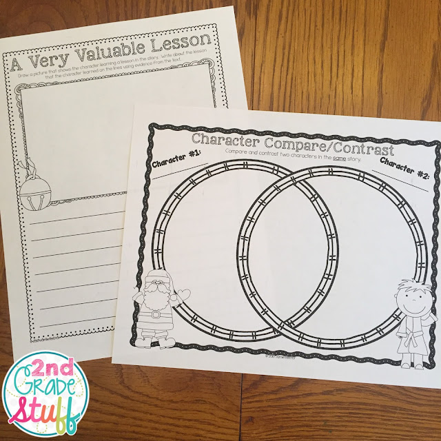 These ELA printables are perfect for the month of December! Common Core Graphic Organizers with a seasonal theme.