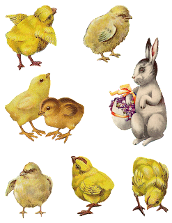 digital Easter chick bunny images