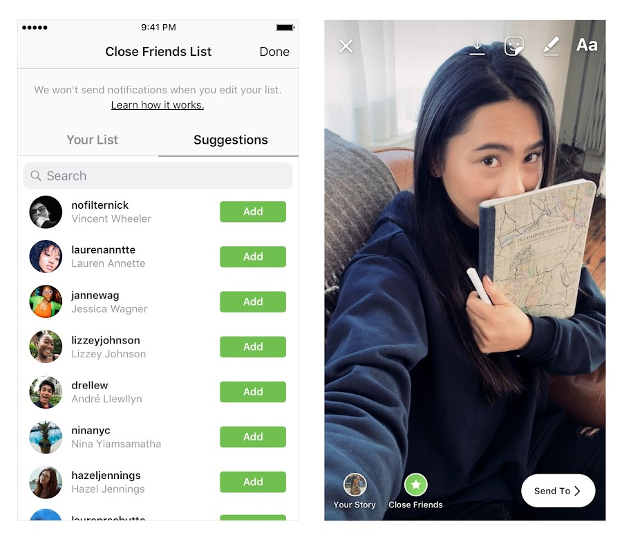 Instagram adds 'close friends' to let you share stories to a more limited group