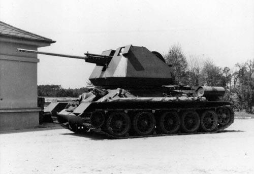 Чехословацкая ЗСУ на базе Т-34-85 с пушкой R10