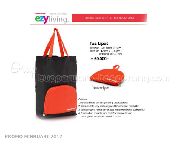 Tas Lipat Tupperware Promo Februari 2017