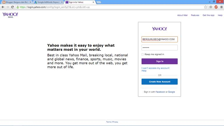 Cara Mengirim Email Lewat Yahoo dengan Lampiran 1